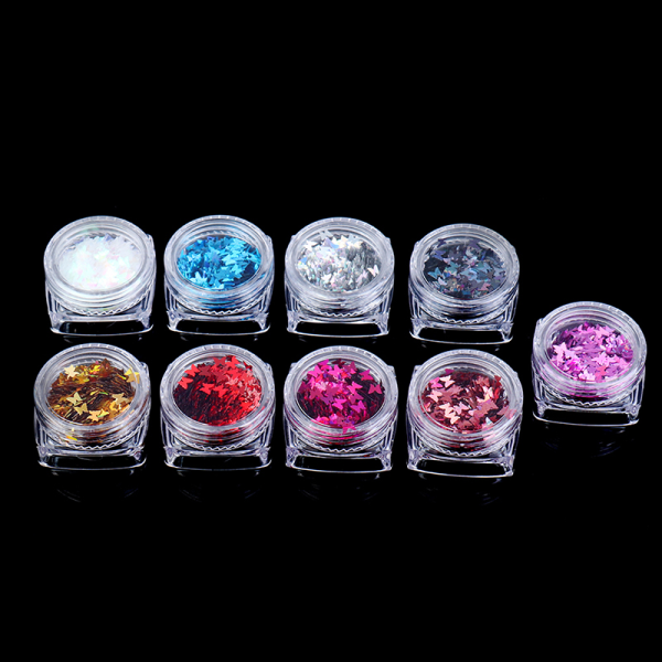 1pcs nail art butterfly sequins laser butterfly sequins nail ar Silver