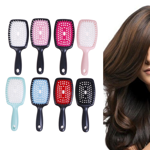 1Pcs Washing Hair Care Massage Massager Brush Relaxation Comb S Pink White