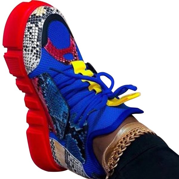 2020 Fritidsskor Dam Mode Blandade färger Platform Sneakers