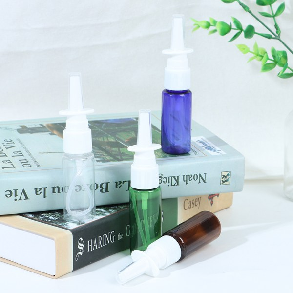 20ml Empty Plastic Nasal Pump Spray Bottles Sprayer Mist Nose R Blue