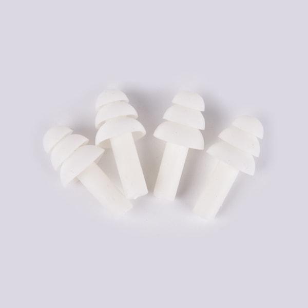 2 par mjuka silikonöronproppar Anti-buller hörselskydd örat