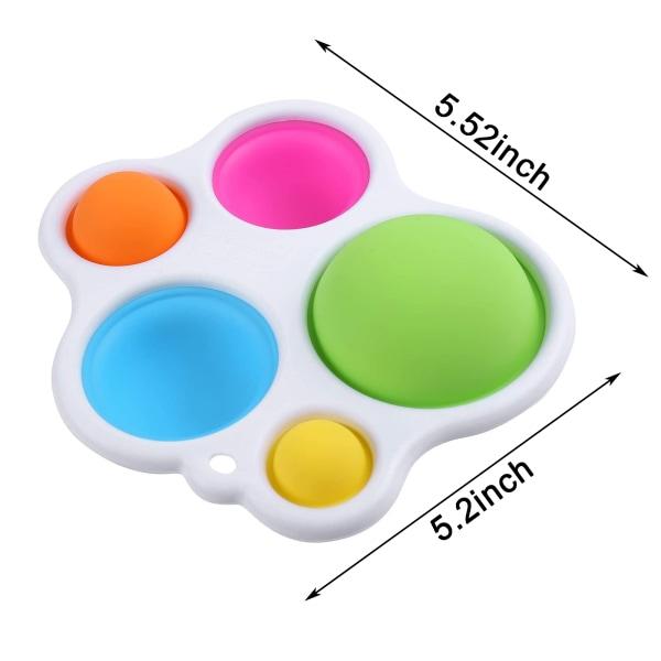 2pcs Fidget Dimple Toy Muiticolor