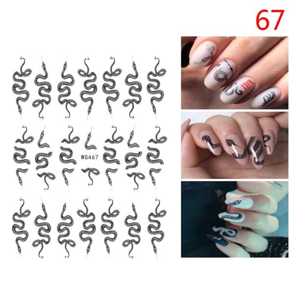 3D Nail Art Dragon Decals Stickers Self Adhesive Nail Sticker T W67