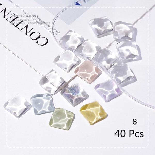 40st Transparent Glass Nail Art Display Visar polsk färg B