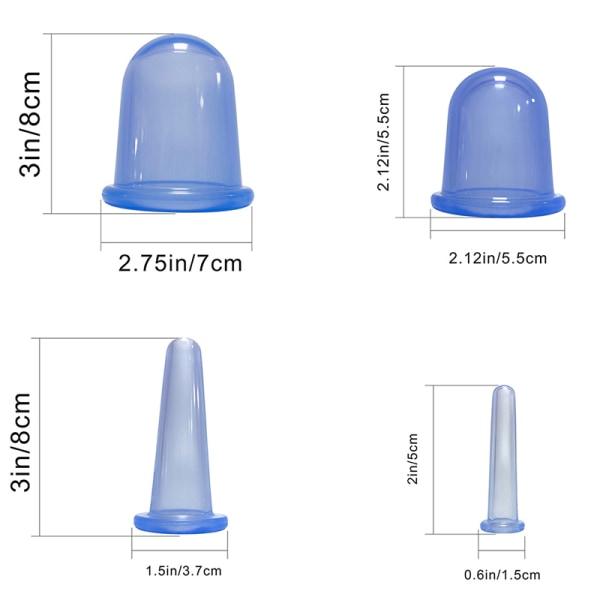 4st silikon vakuum kupa massage sugkoppar manuell kupa