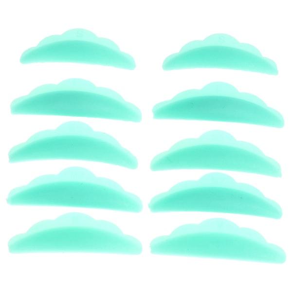 5 par ögonfranslyftkuddar förlängningslyft perming curlers curl Green
