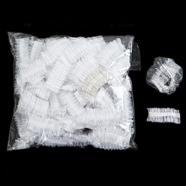 50/100 STK Engångs öronskydd baddusch Transparent öronskydd