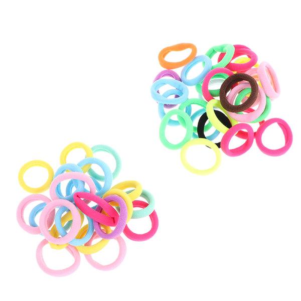 50 st barnhårrep elastiskt elastiskt hårband flicka dec