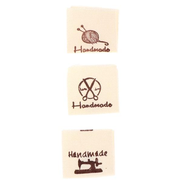 50st / set bomullskläder etiketter handgjorda präglade taggar diy flagga
