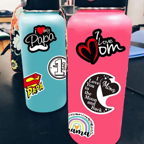 50st / uppsättning kärleksklistermärken för bärbar dator scrapbooking rosa st
