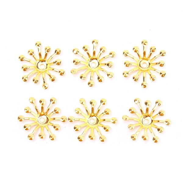 50st vintage filigran blomma omsluter kontakter metall hantverk hand Gold