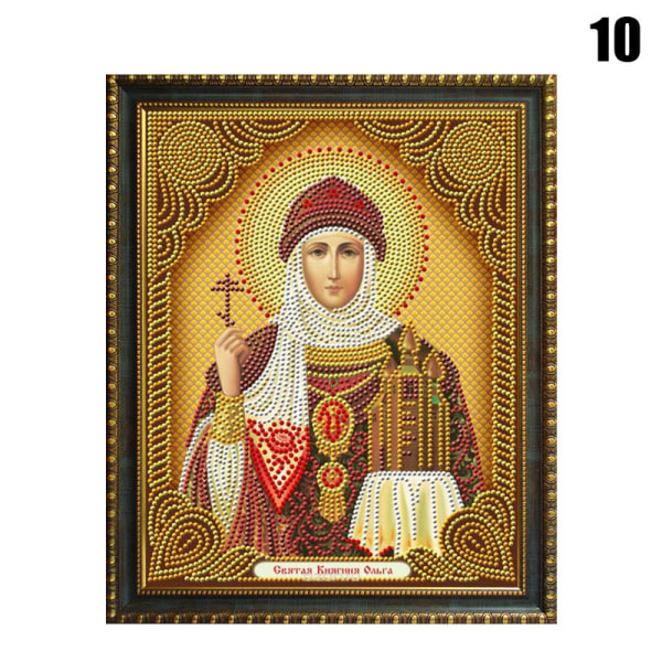 5D DIY Painting Religion Icon Embroidery Round Rhinestone Paint 10