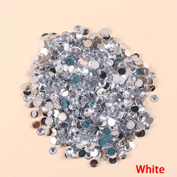 5mm 1000st Rhinestone AB Milk Jelly Flatback Resin Crystal För