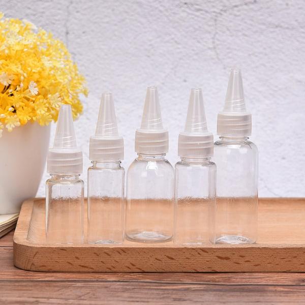 5st plast tom flaskdropp flytande flaska barnsäker lock