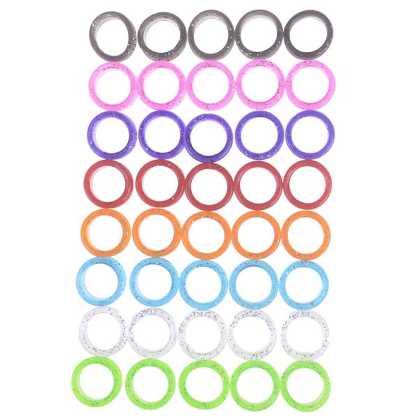 5Pcs/Set Silica Gel Hair Scissors Ring Cutting Barber Circle Sh Purple