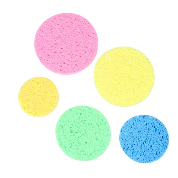 5st trämassa svamp komprimera kosmetisk puff ansiktsmake-cleansi