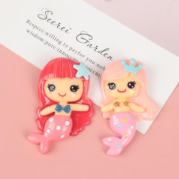 6st harts härlig blandad sjöjungfru / liten flicka prinsessa flatback ca S