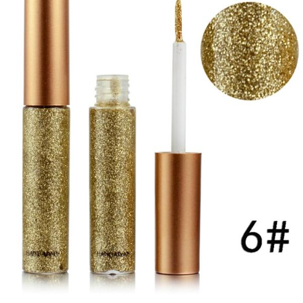7 färger Glitter Silverguld Metallic Liquid Eyeliner Shimmer G