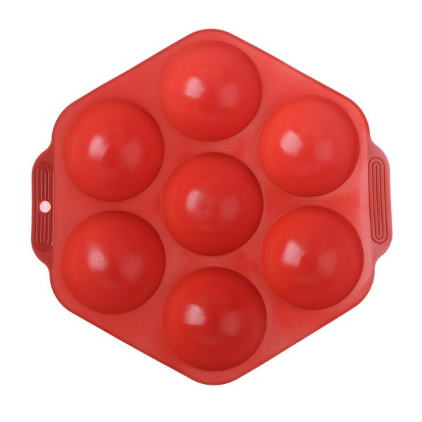 7 hål silikonbakform 3D halvkula sfär DIY choklad C