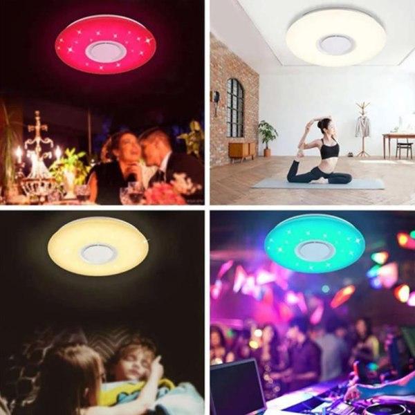 72W Bluetooth Speaker White + RGB Light Smart LED Ceiling Light