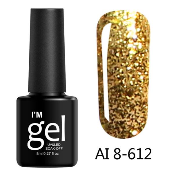 8Ml Glitter Gel Soak Off Uv Gel Polish Shiny Diamond Varnish Ge