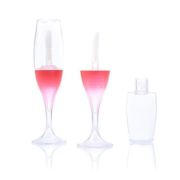 8ML Mini Lip Gloss Tube Empty Refillable Lipstick Cosmetic Make Red