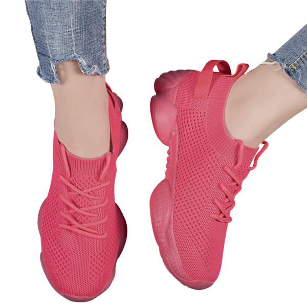 Air Mesh Dam Sneaker Sock Skor Sommar Andas Cross Tie P