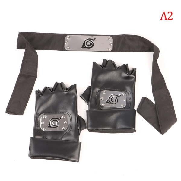 Anime Kakashi Gloves Headband Accessories Cosplay Costume Party A2