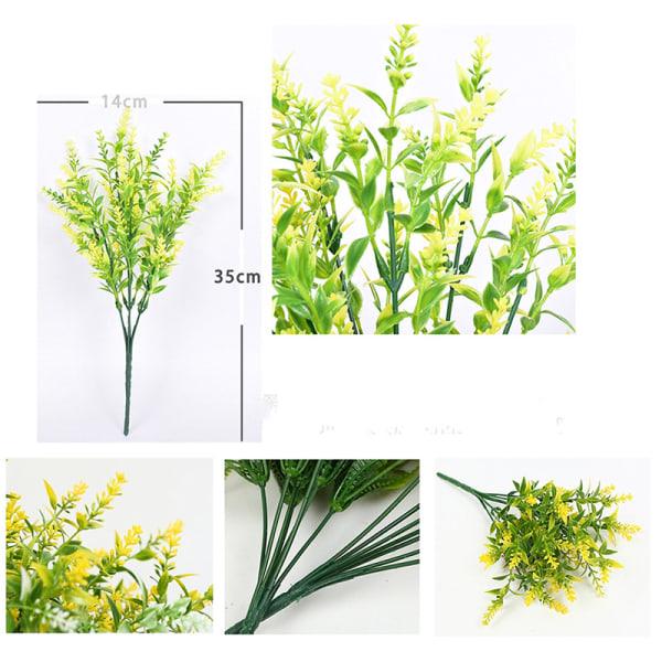 Konstgjord blomma Plast Lavendel Fake Plant Bröllop Hem Garde
