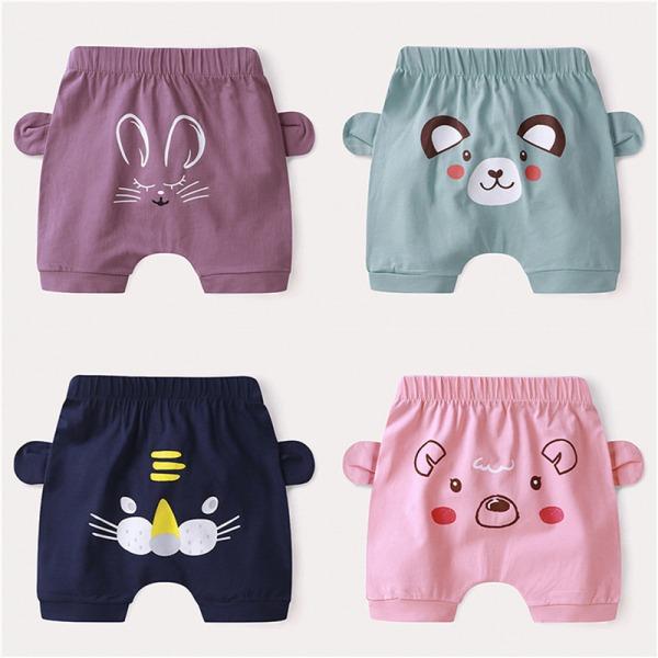 Baby bomullstecknade shorts med nyfödd tunn baby Capris