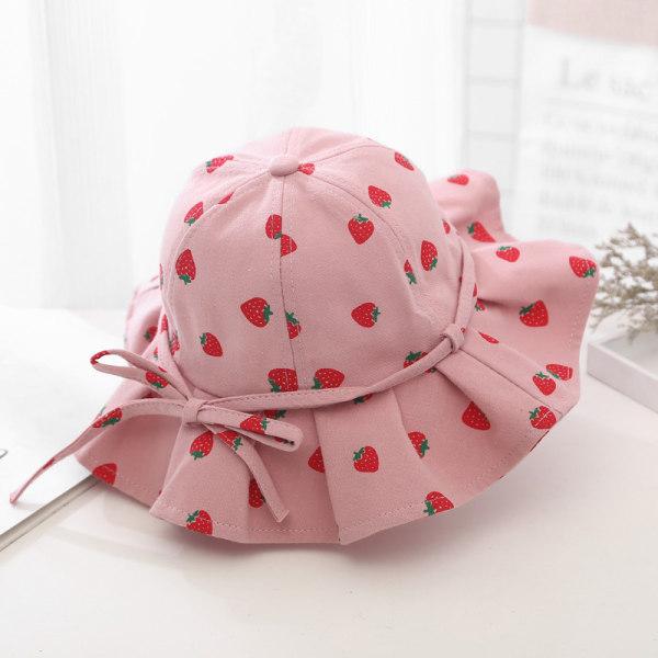 Baby Girl Bucket Hat Outdoor Bowknot Kids Girl Sun Hat Children
