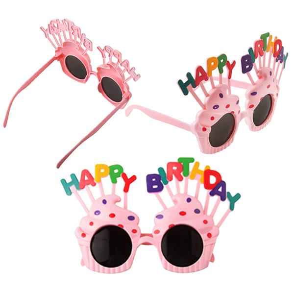 Födelsedagsfest hattar 3 par Födelsedag solglasögon Färgglada fest
