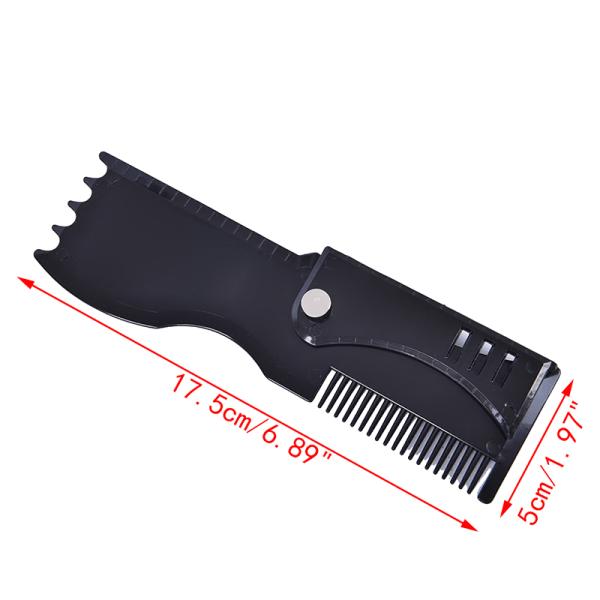 Svart justerbar Beard Shaper Beard Styling Shaping Tool Beard