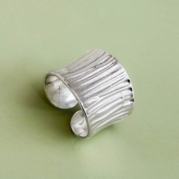 Bohemian Vintage Silver Large Rings For Party Gifts Open Finger 1 pcs