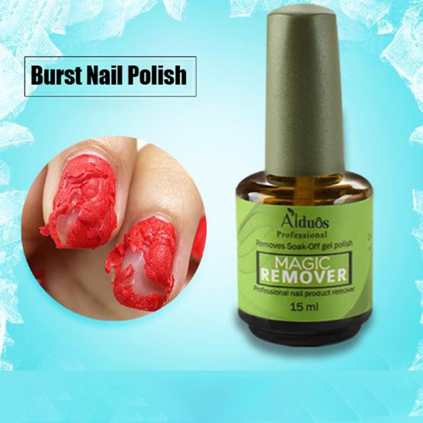 Burst Nail Gel Magic Remover Polish Soak Off Gel Coat Cleaner D