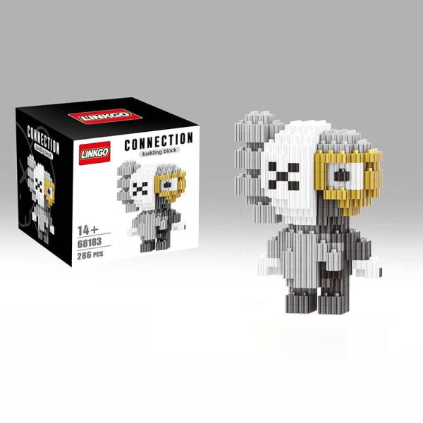 Cartoon Minifigures Diamond Building Block MOC DIY 3D Educationa