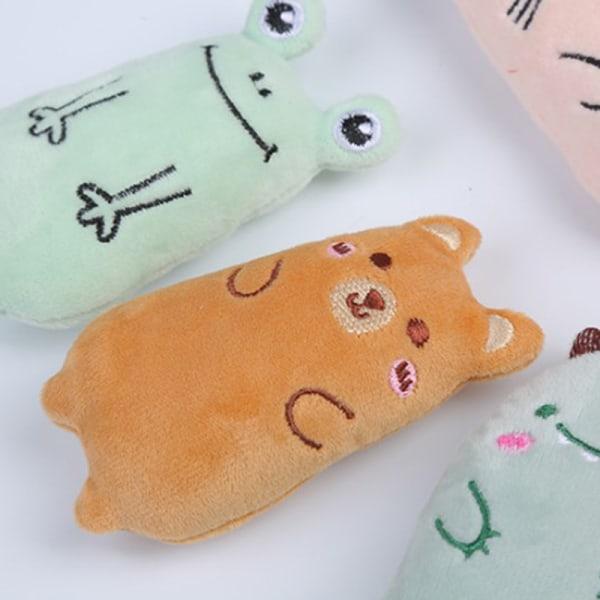 Cat Toy Catnip Interactive Plush Chew Pet Toys Rolig kattmint T