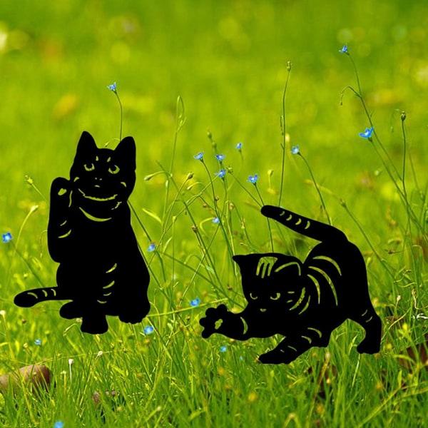 kattgård ornament prydnad konst gräsmatta djur staty utomhus trädgård