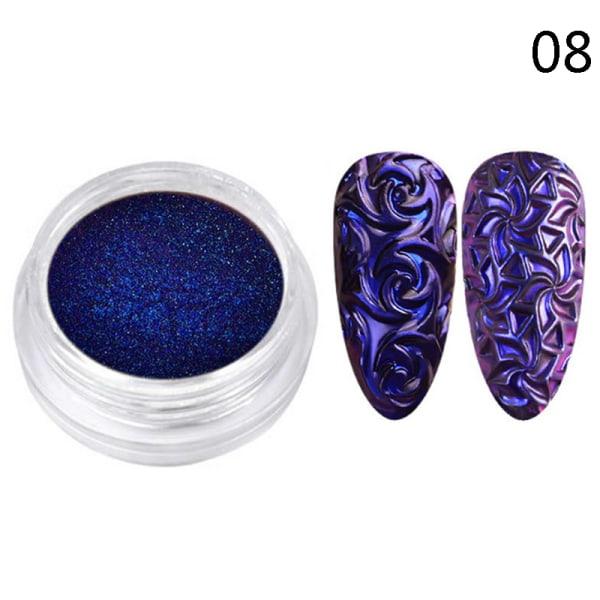 Chameleon Mirror Nail Art Glitter Powder DIY Nail Chrome Pigmen GX08