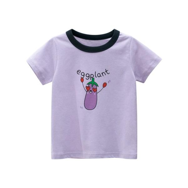 Barns och flickors söta kortärmade T-shirt i sommar