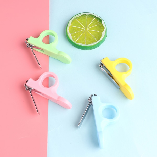 Children safe nail clipper baby clippers scissors baby nail car Yellow