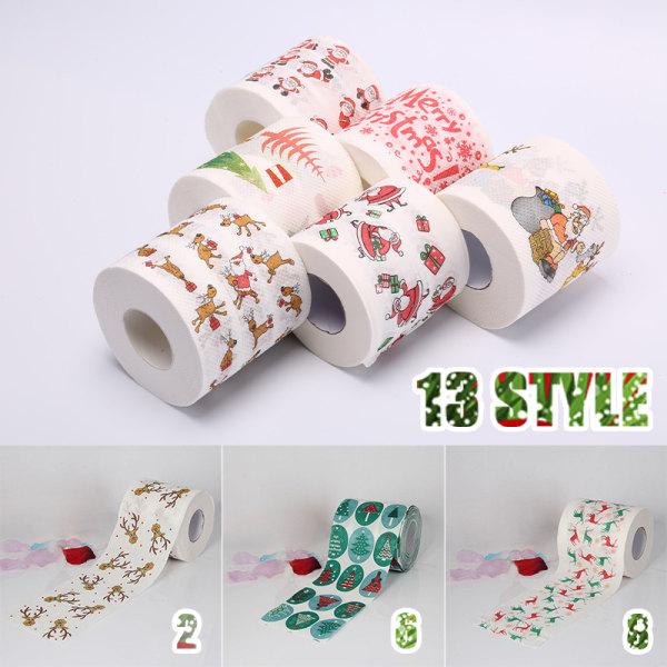 Christmas Home Reindeer Santa Claus Xmas Tree Toilet Paper Deco 3