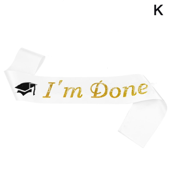 "Class of 2021 Grad Crown Sash Set with Letter""I Graduated"" For  K"