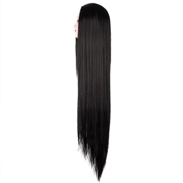 "Cosplay Wig Synthetic Heat Resistant 100 CM/40"" Long Straight C Black"