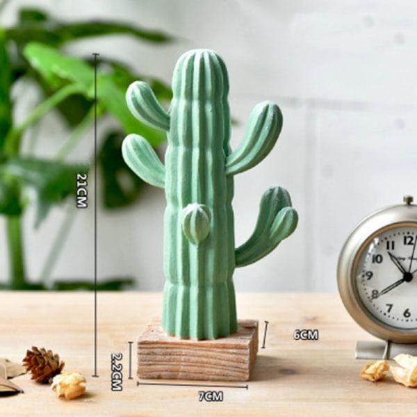 Kreativa keramiska kaktusprydnader Vardagsrum Desktop Decorativ