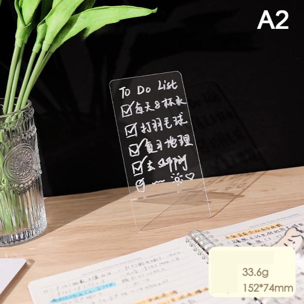 kreativ transparent akryl anteckningsbok meddelandeminnestavla för s