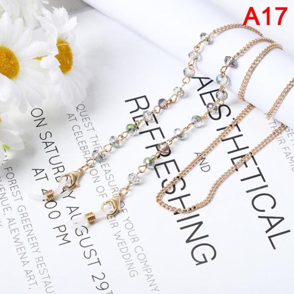 Crystal Pearls Mask Chain Glasögonkedja för kvinnor Glasögon Ho