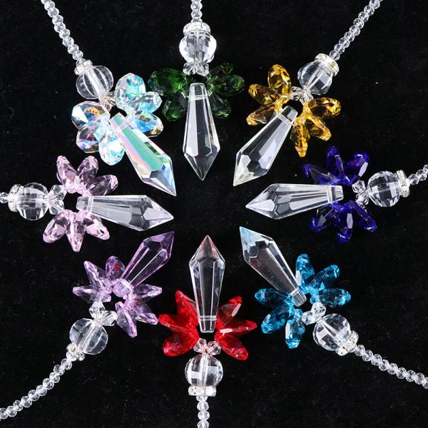 Crystal Suncatcher Window Hanging Feng Shui Healing Prism Rainbo