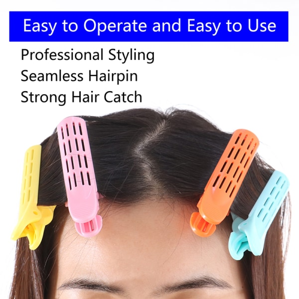 Curly Hair Clip Hair Root Fluffy Clip Bangs Hair Styling Clip H Navy blue