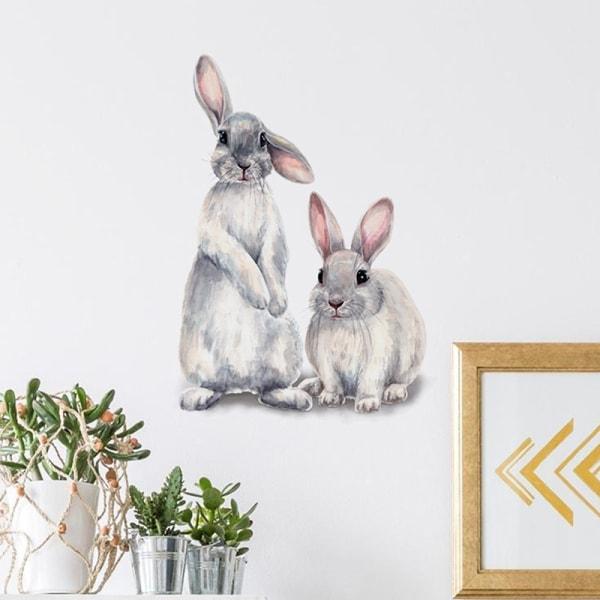 söta djur kaniner väggdekaler barnens barnrum inredning rem